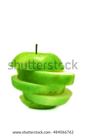 green apple isolated background,green apple fruit for healthy