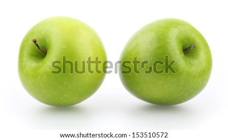 Green apple, isolated on white background - stock photo