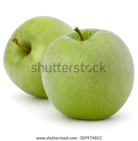 green apple isolated on white background cutout