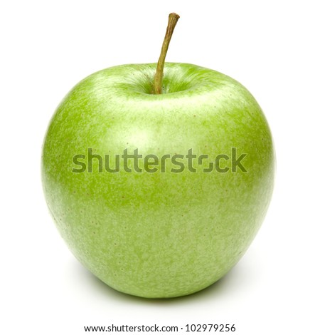 Green apples Isolated on a white background - stock photo