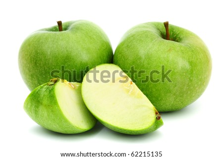 green apples pile - stock photo