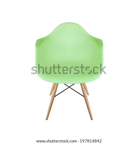 green armchair isolated - stock photo