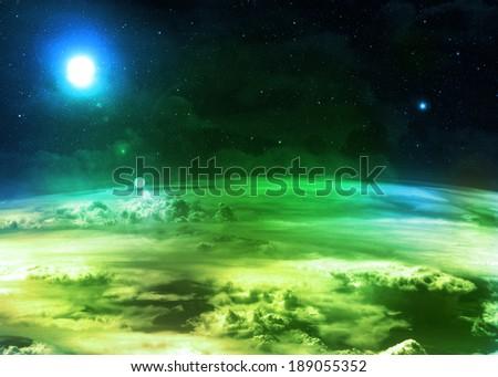 Green Atmosphere  - stock photo
