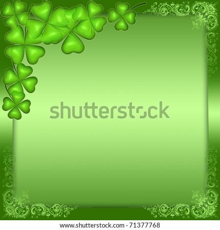 Green background for St. Patrick's day - stock photo