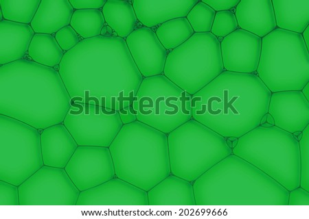 green background from the cells or bubbles - stock photo