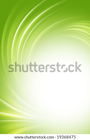 Green background, twirl - stock photo