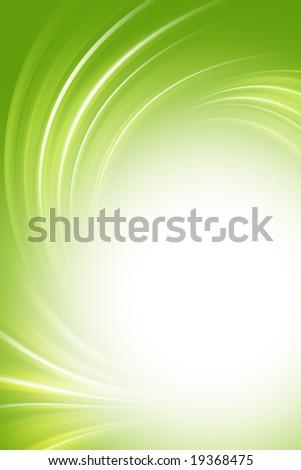Green background, twirl - stock photo