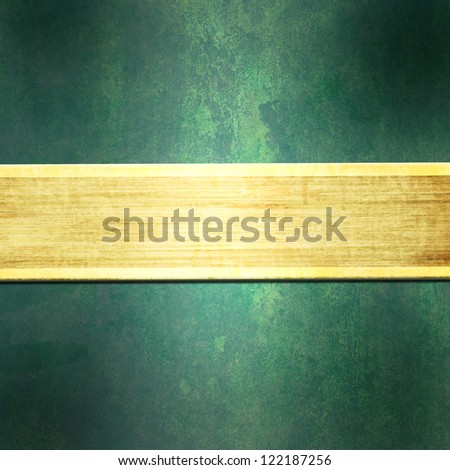 Green  background with gold strip - stock photo
