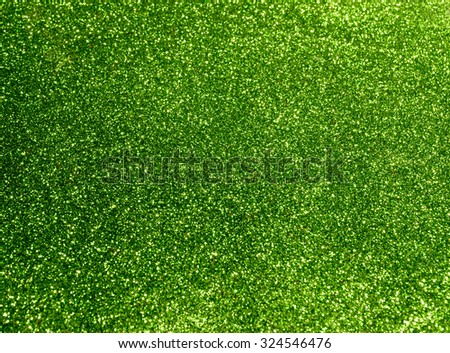 green background with sparkles - stock photo