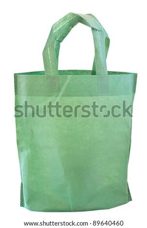 green bag - stock photo