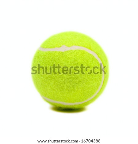 Green ball isolated on white - stock photo