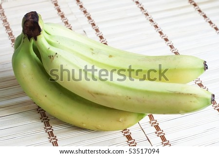 green bananas - stock photo