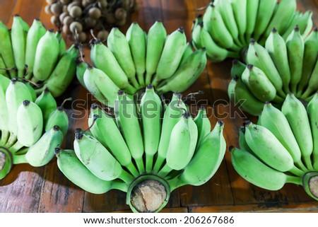 green bananas, Thailand - stock photo