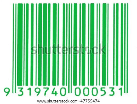green barcode - stock photo