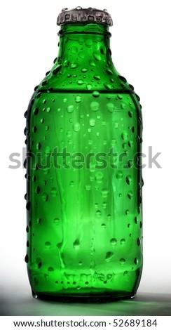 Green battles on white background - stock photo