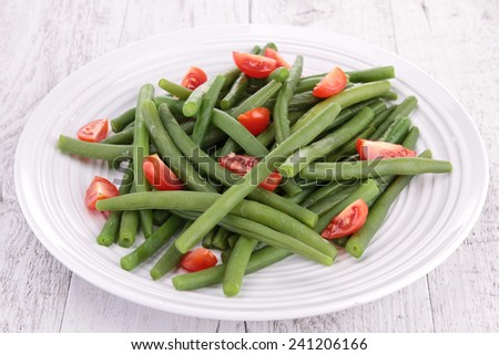 green bean and tomato salad - stock photo