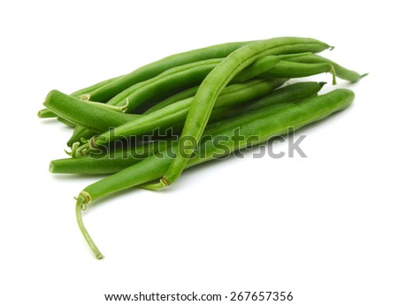 Green beans isolated on a white background. - stock photo