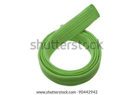 Green belt isolated on white background