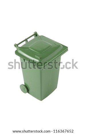 Green bin - stock photo