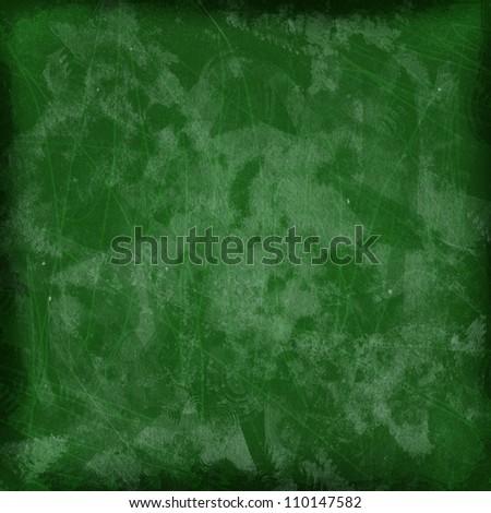 Green Blackboard Empty Texture - stock photo