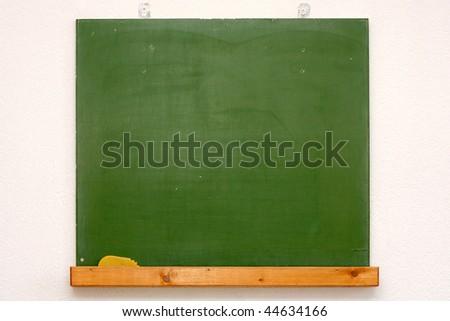 green blank chalkboard - stock photo