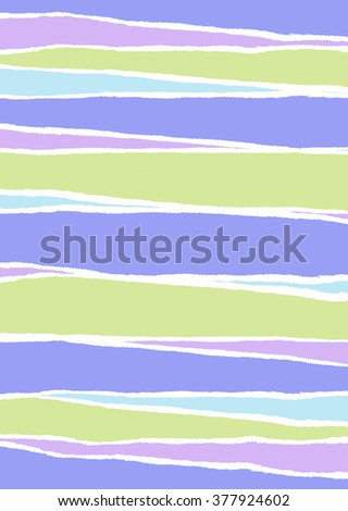 Green, blue and purple wrapping paper torn in strips