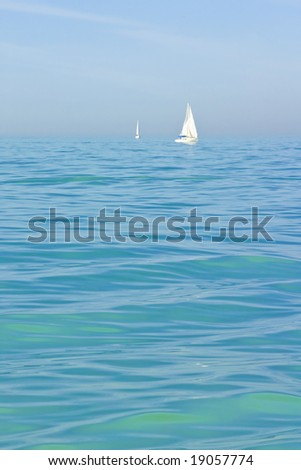 green blue sea wave