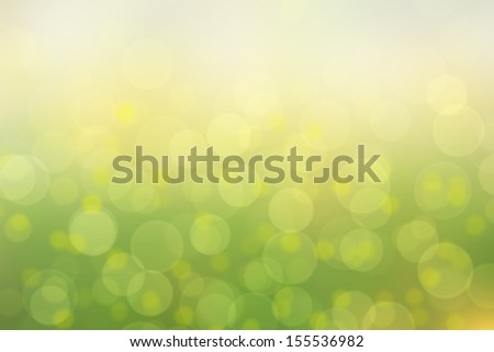 Green bokeh light abstract background - stock photo