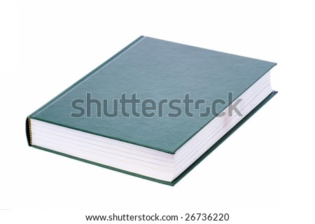 green book,isolated on the white background