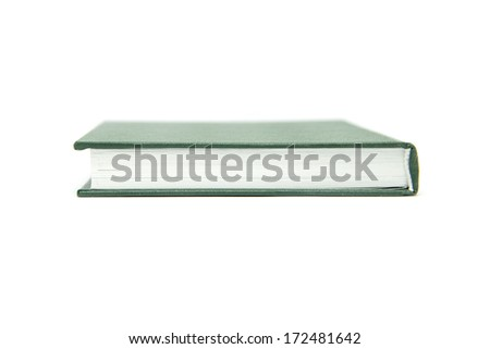 green book isolated on white - stock photo