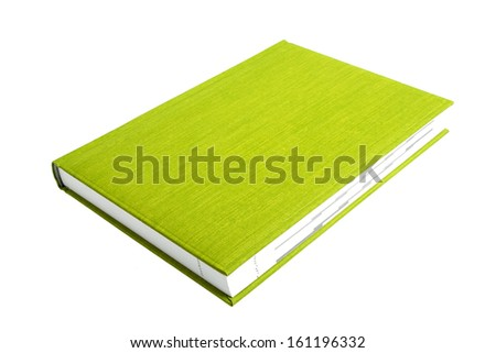 Green book on a white background - stock photo