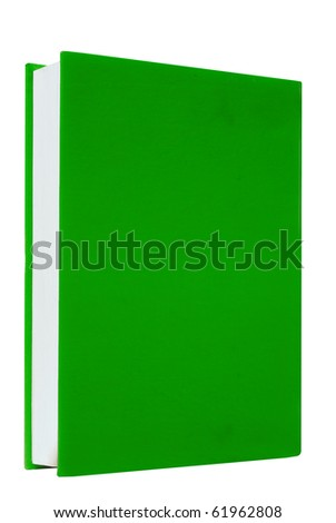 Green books on white background isolated - stock photo
