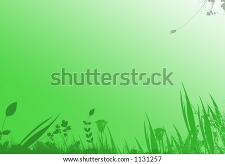 Green botanical Background