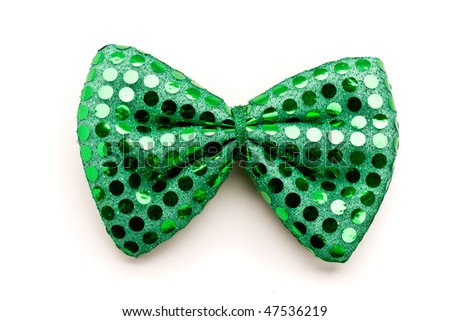 Green bow tie for St. Patrick Day - stock photo