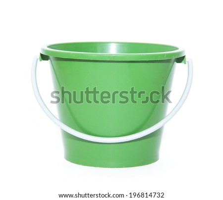 Green bowl isolated on white background.