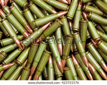 Green bullets - stock photo