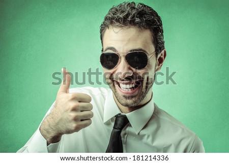 green businessman - stock photo