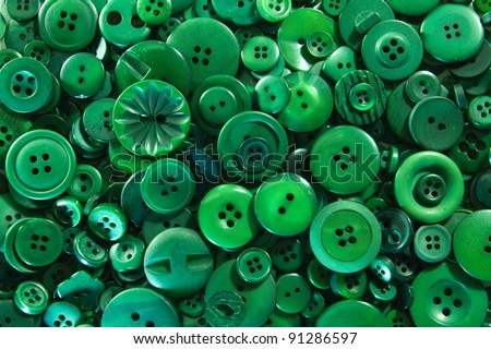 Green Buttons - stock photo