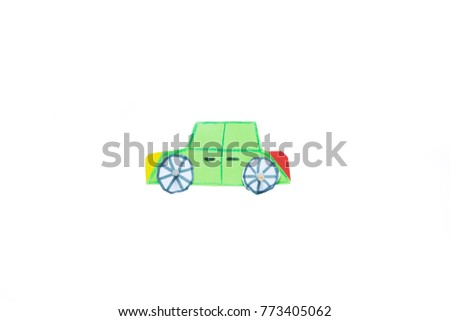 Green car do yourself handmade safety stock illustration 773405062 green car do it yourself or handmade safety on road save child solutioingenieria Choice Image