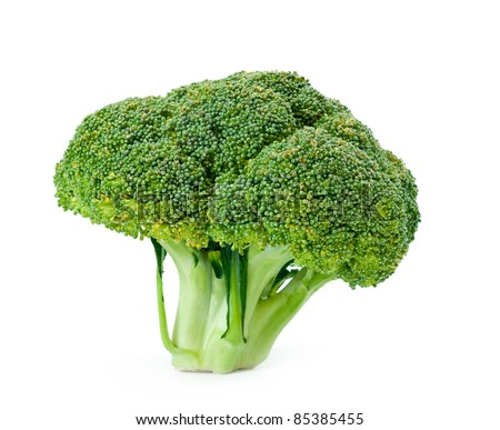 green cauliflower  isolated on a white background - stock photo