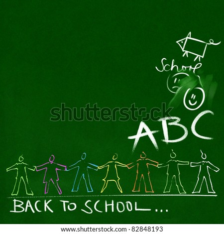 green chalkboard - back to school doodles