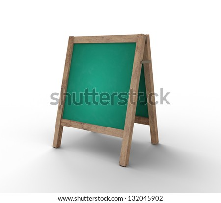 green chalkboard on white background