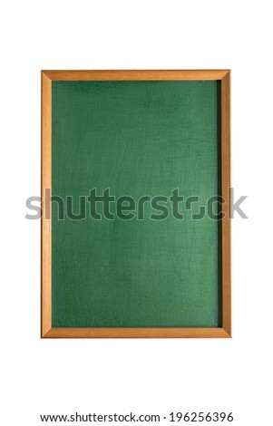 Green chalkboard on white background - stock photo