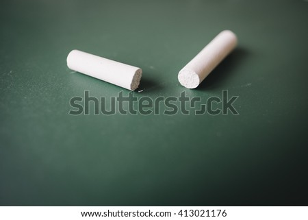 Green Chalkboard with white chalk closeup