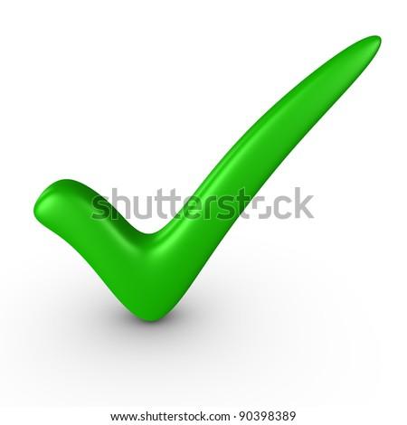 Green checkmark - stock photo
