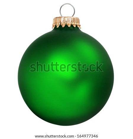 green christmas ornament isolated