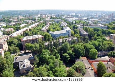 Green city - stock photo