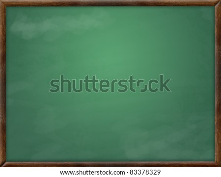 Green class board - stock photo