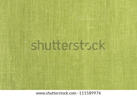 green close up linen texture background - stock photo