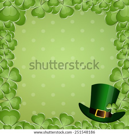 Green clover for St. Patrick's Day - stock photo